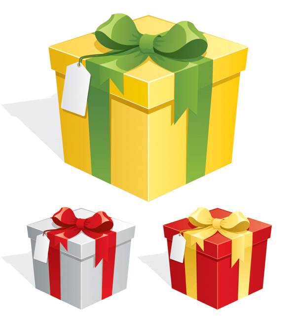 free vector Beautiful gift box vector
