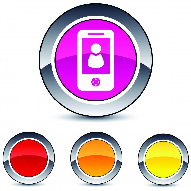 free vector Beautiful glossy round button icon vector web