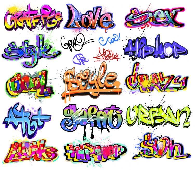 Beautiful Graffiti Font Design 01 Vector Free Vector 4vector