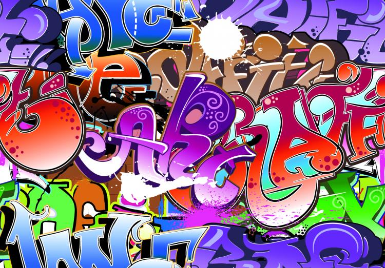 free vector Beautiful graffiti font design 05 vector