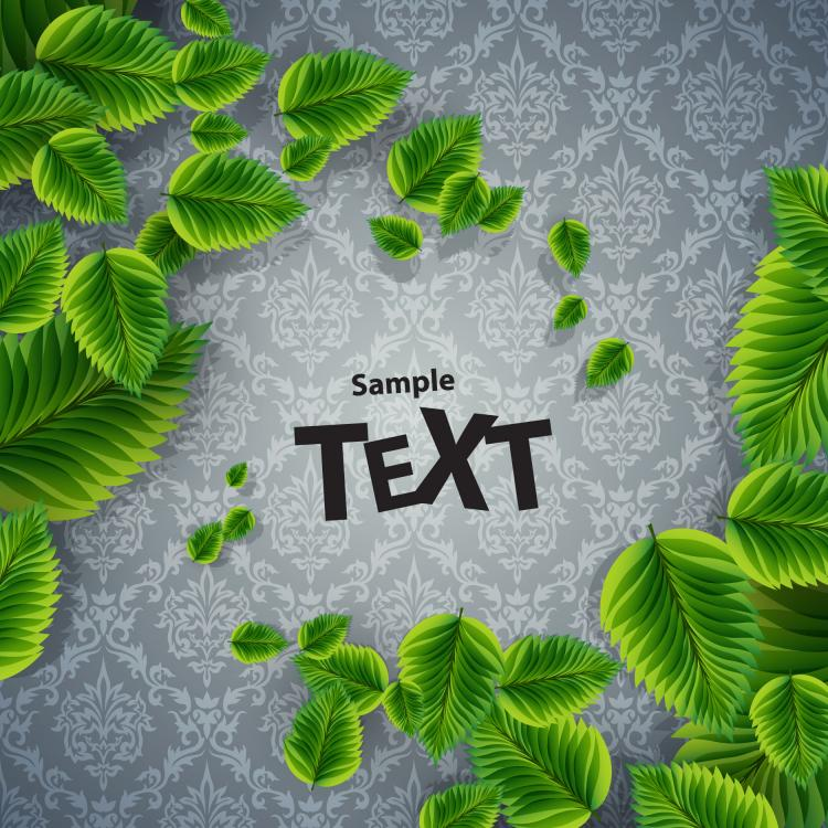 free vector Beautiful green background 05 vector