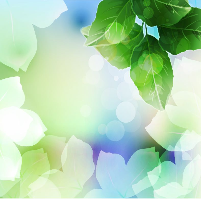 free vector Beautiful Green Leaf Background Vector Illustration