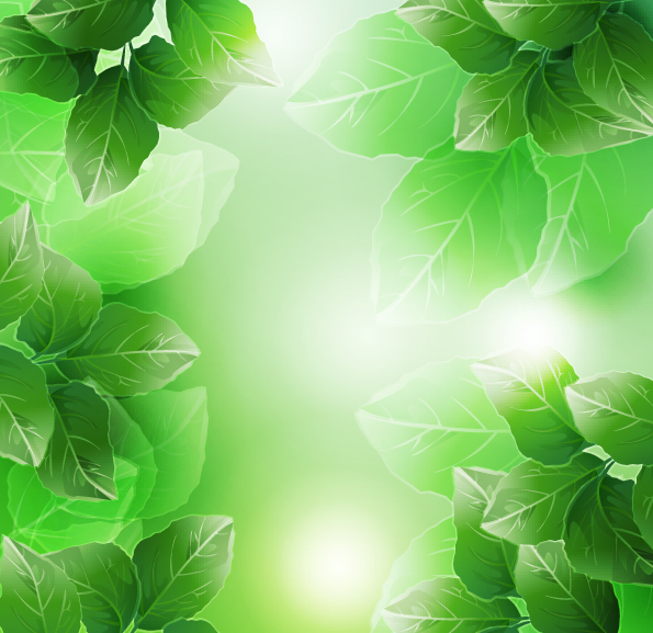 free vector Beautiful green leaves vector