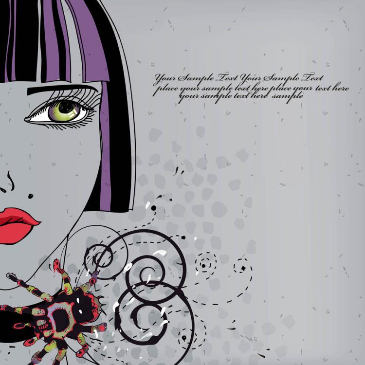 free vector Beautiful handdrawn fashion illustration 02 vector