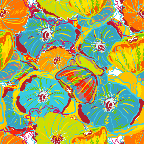 free vector Beautiful handpainted background patterns 01 vector