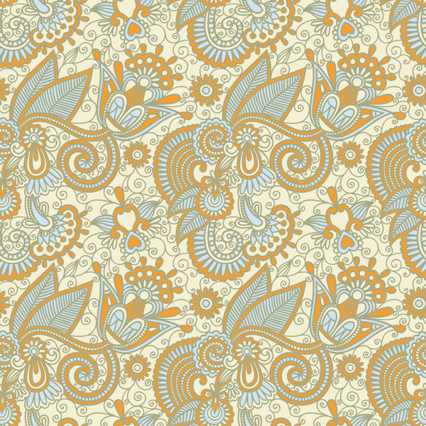 free vector Beautiful handpainted pattern vector 2
