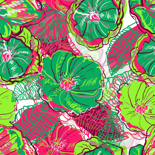 free vector Beautiful handpainted patterns background 02 vector