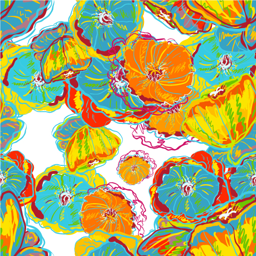 free vector Beautiful handpainted patterns background 03 vector
