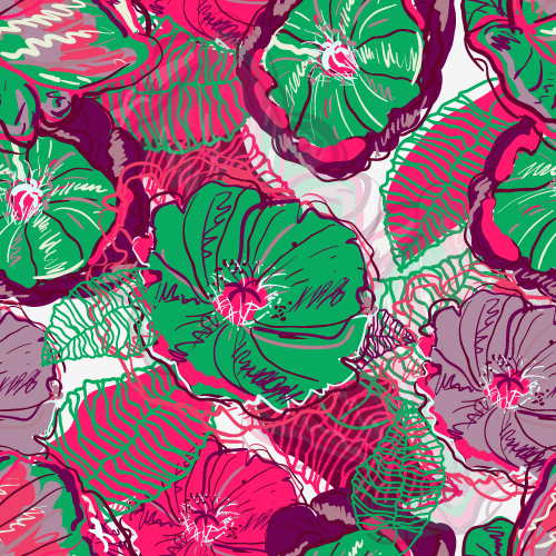 free vector Beautiful handpainted patterns background 04 vector