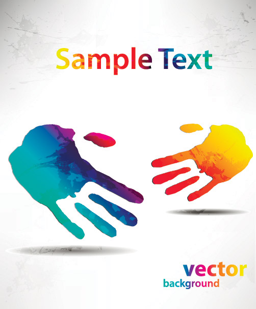 free vector Beautiful hands and feet silhouette pattern vector