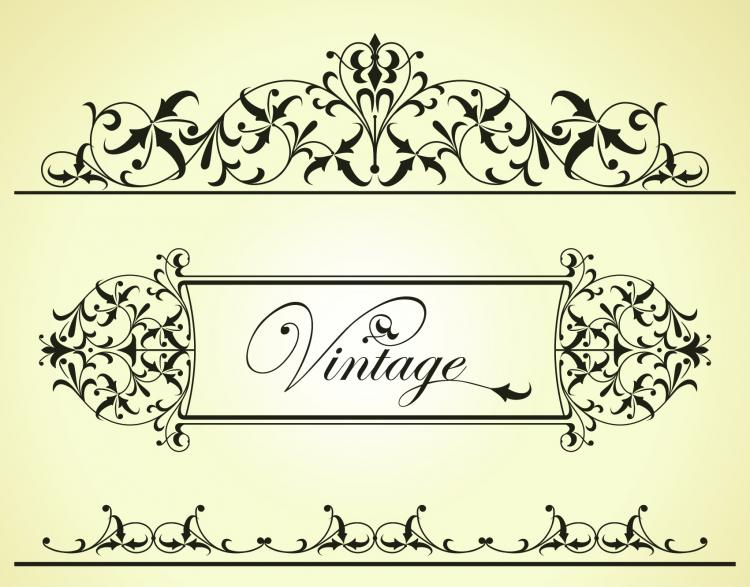 free vector Beautiful lace pattern 02 vector