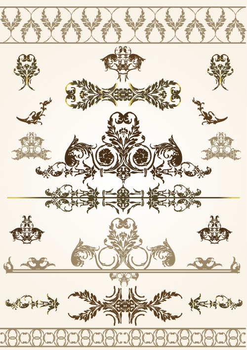 free vector Beautiful lace pattern 03 vector