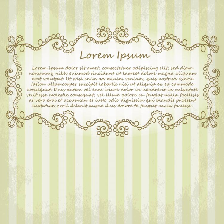 free vector Beautiful lace pattern 05 vector