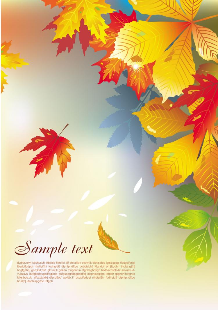 free vector Beautiful maple leaf background 01 vector