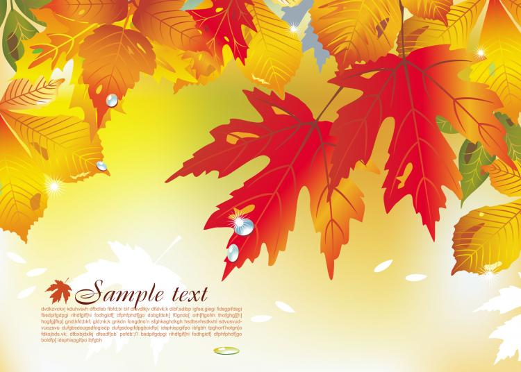 free vector Beautiful maple leaf background 04 vector