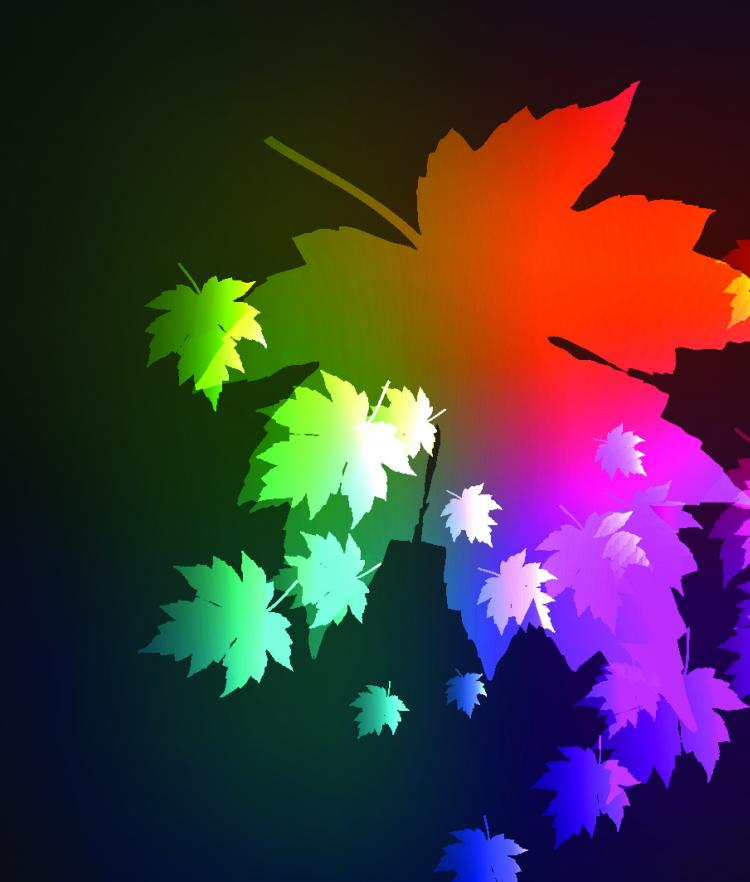 free vector Beautiful maple leaf background 05 vector