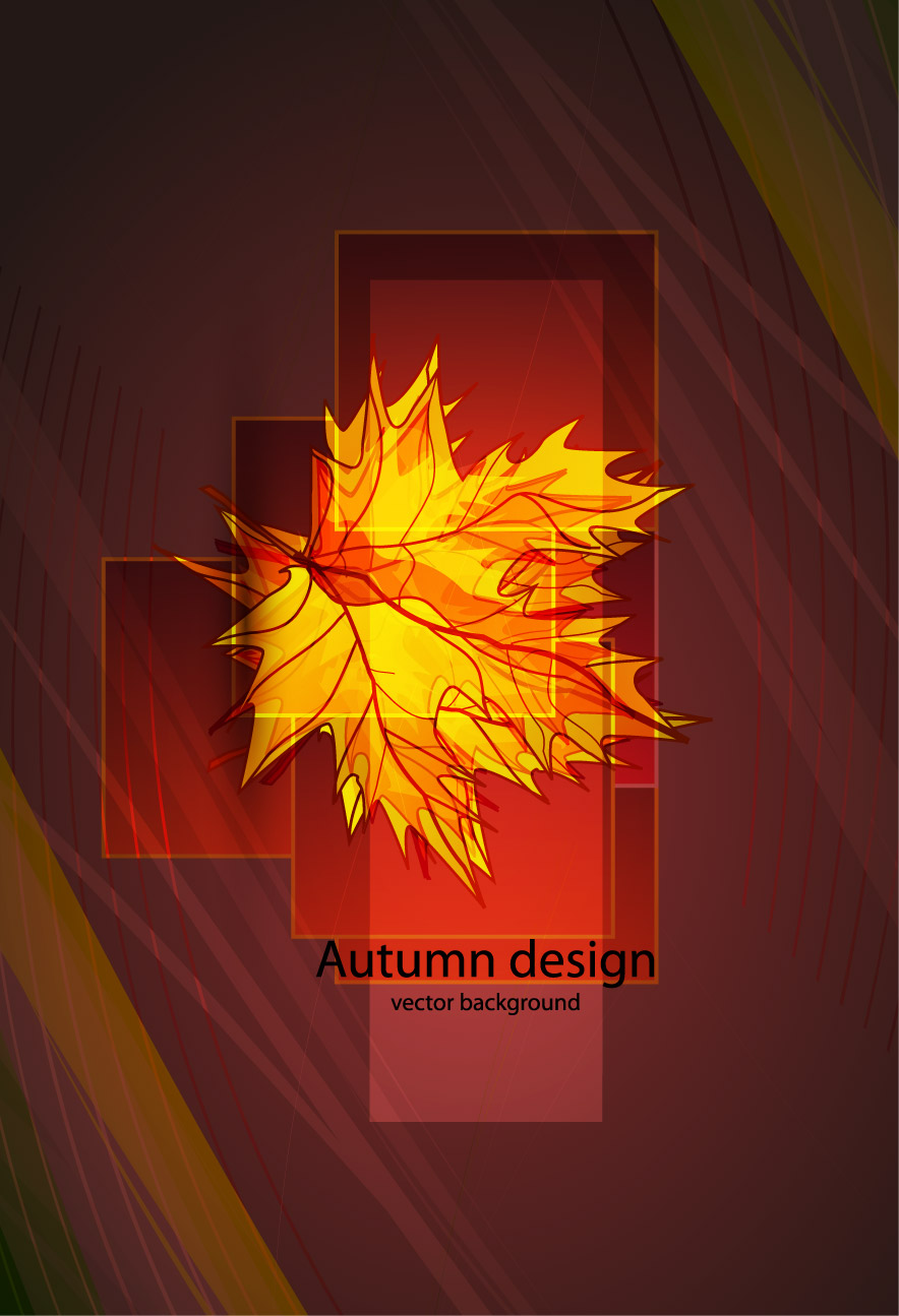 free vector Beautiful maple leaf vector
