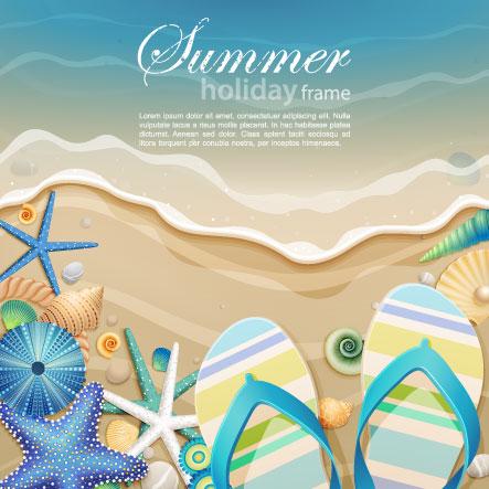 free vector Beautiful ocean background cartoon 01 vector