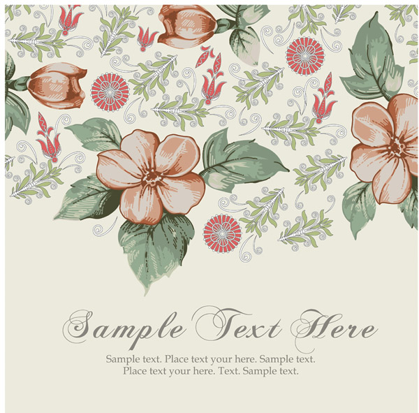 free vector Beautiful pattern background 04 vector 17545