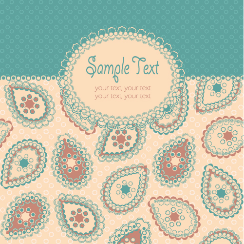 free vector Beautiful pattern background 05 vector