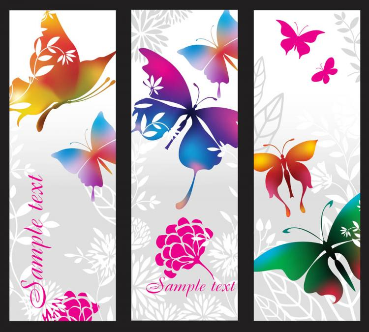 free vector Beautiful pattern banner 02 vector