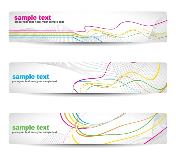 free vector Beautiful pattern banner 04 vector