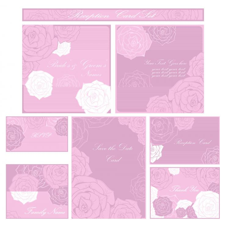 free vector Beautiful pattern card 04 vector