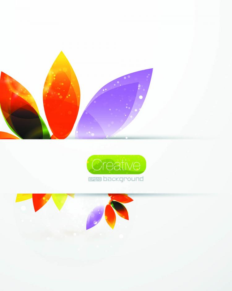 free vector Beautiful pattern petals 02 vector