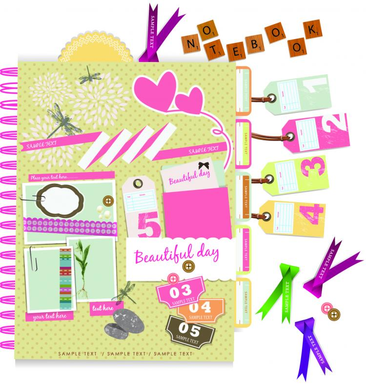 free vector Beautiful pink stickers elements 03 vector