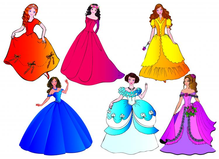 free vector Beautiful princess 03 vector
