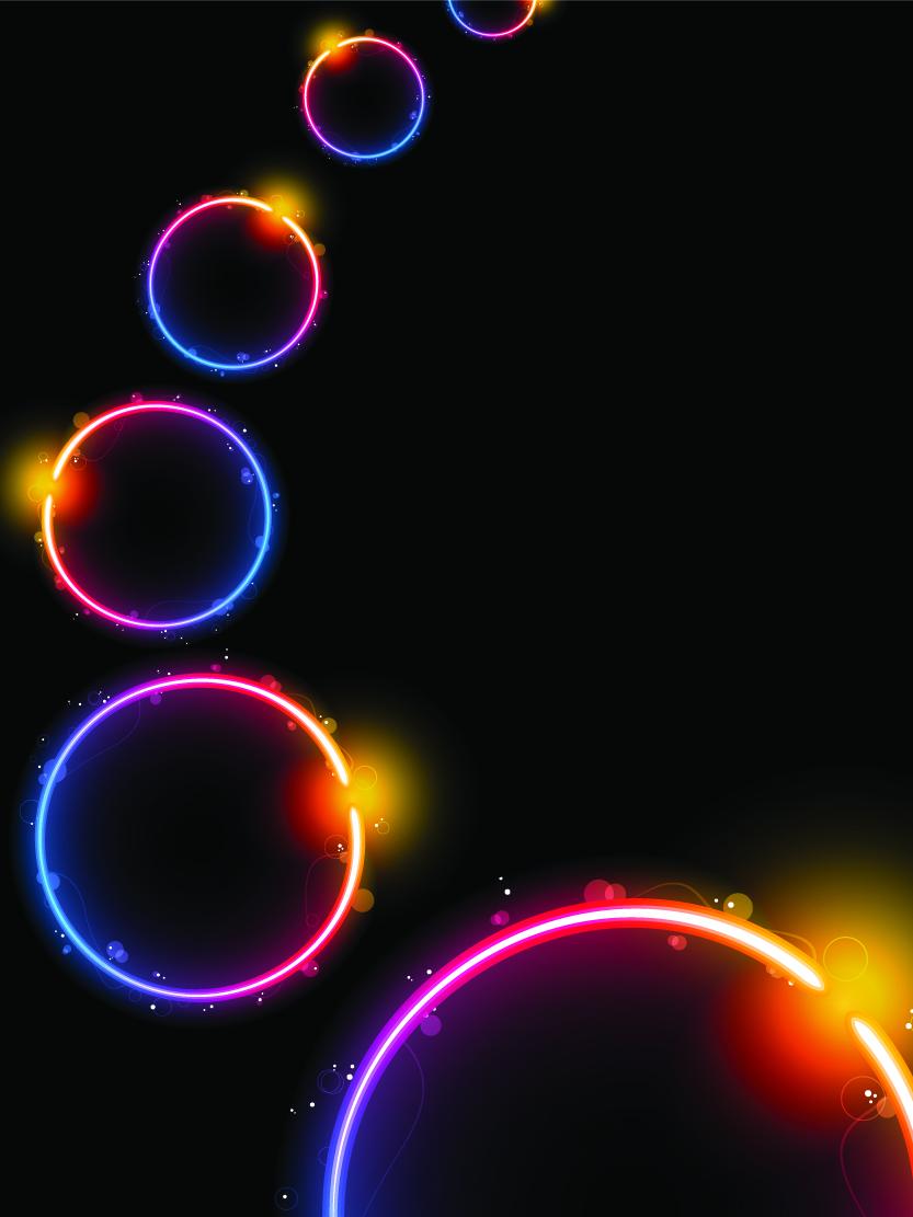 free vector Beautiful rainbow lightemitting element vector