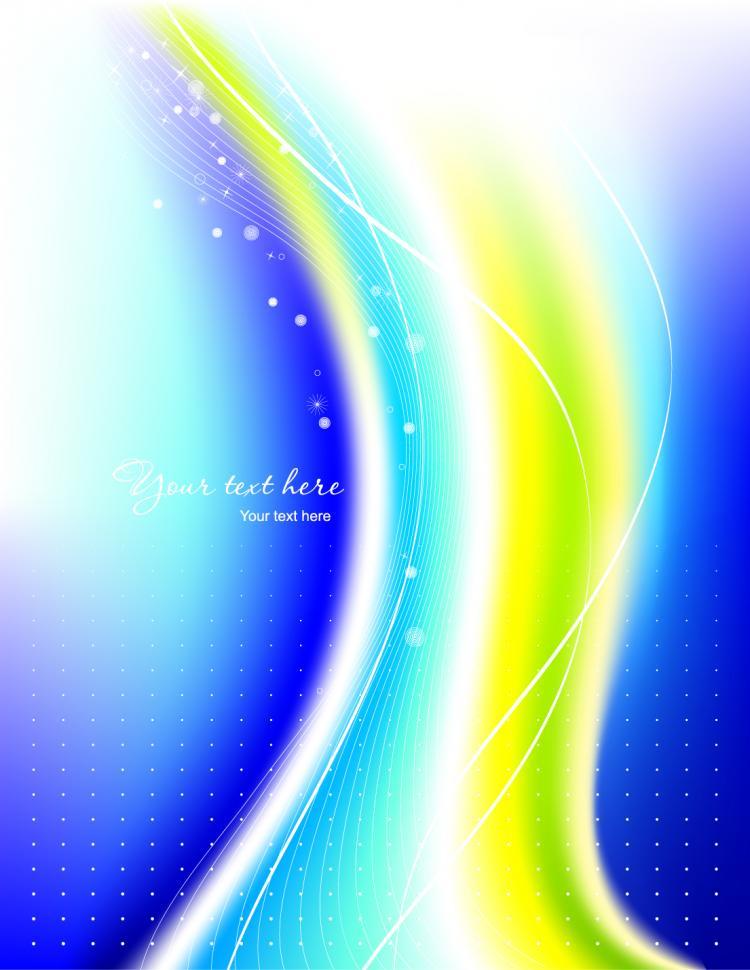 free vector Beautiful rainbow symphony 03 vector
