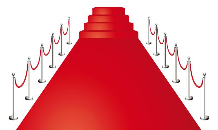 free vector Beautiful red carpet vector