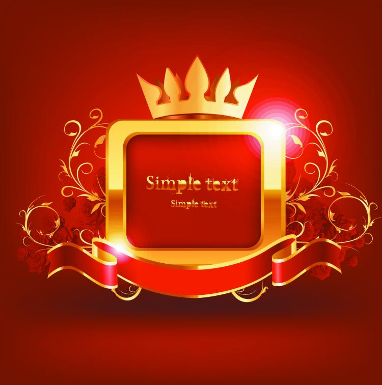 free vector Beautiful red label 04 vector