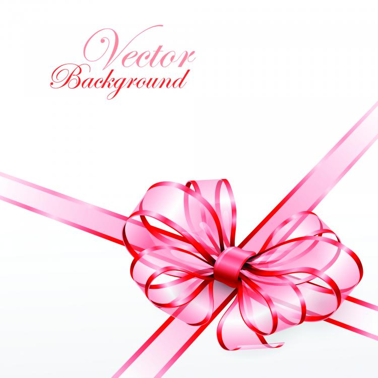 free vector Beautiful ribbon bow 02 vector