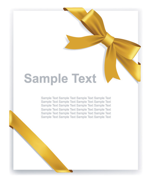 free vector Beautiful ribbon bow vector