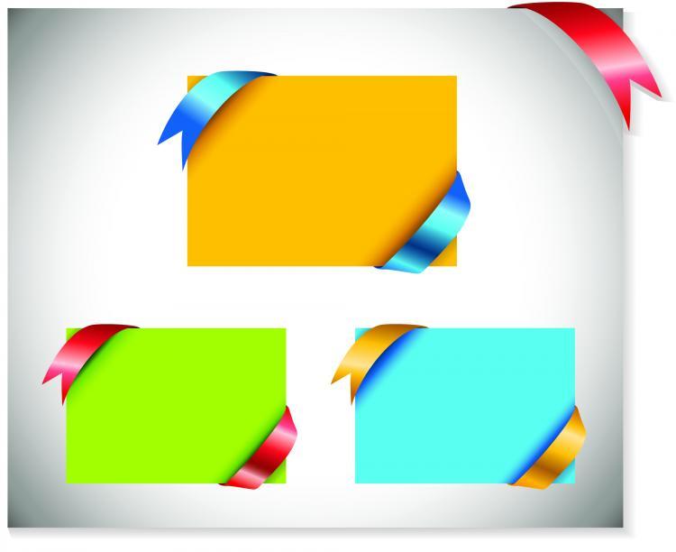 free vector Beautiful ribbon card vector
