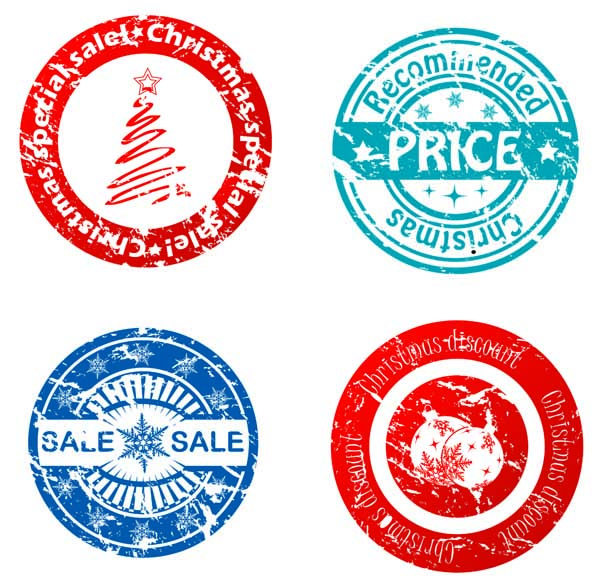 free vector Beautiful round seal vector