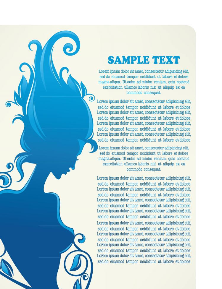 free vector Beautiful silhouette pattern 02 vector