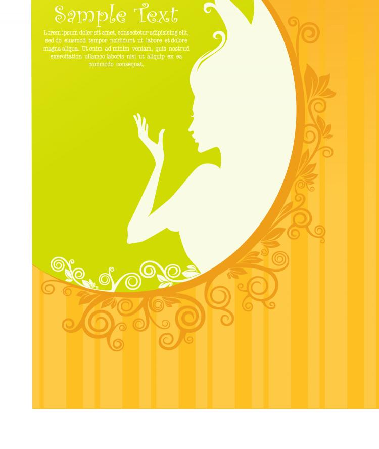 free vector Beautiful silhouette pattern 04 vector