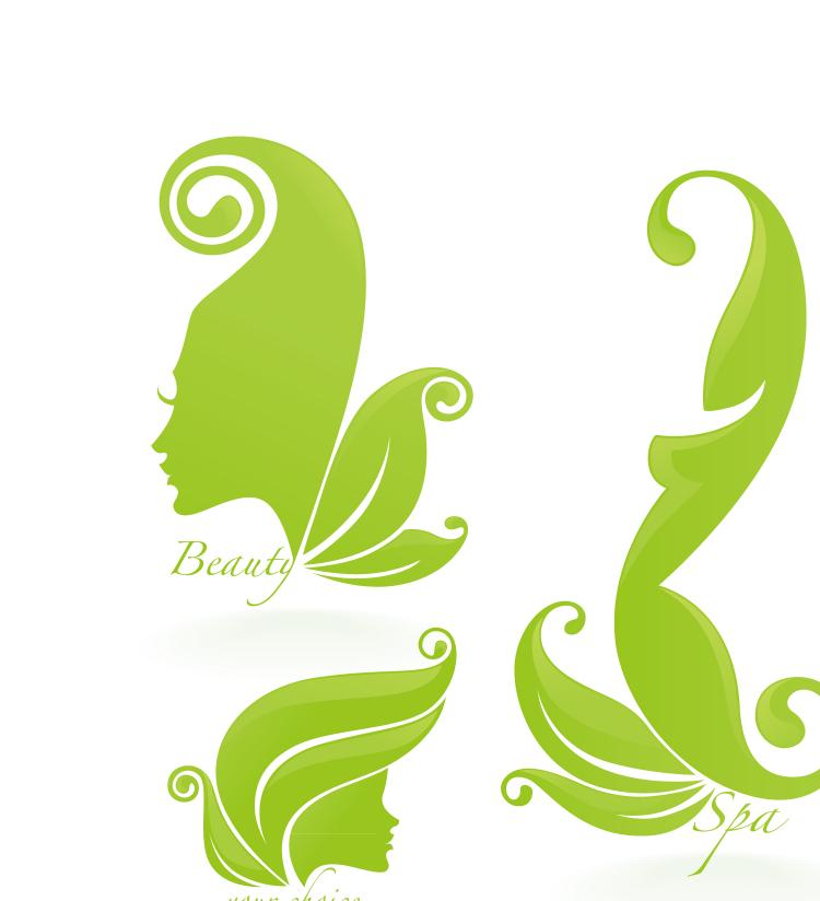 free vector Beautiful silhouette pattern 05 vector