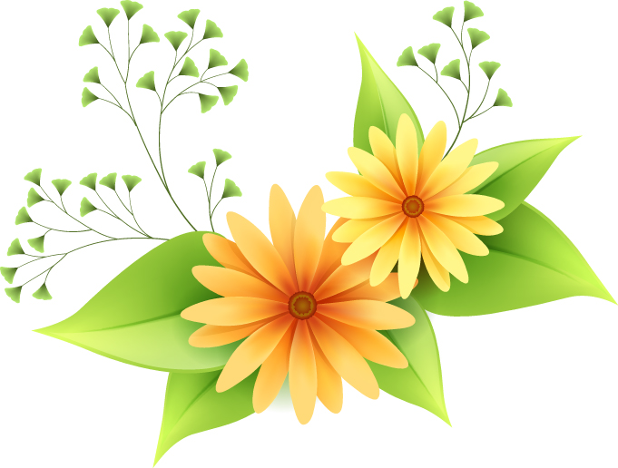 Beautiful small flowers vector 1 free vector 4vector beautiful small flowers vector 1 free vector mightylinksfo