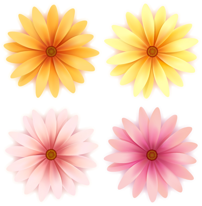 free vector Beautiful small flowers vector 3