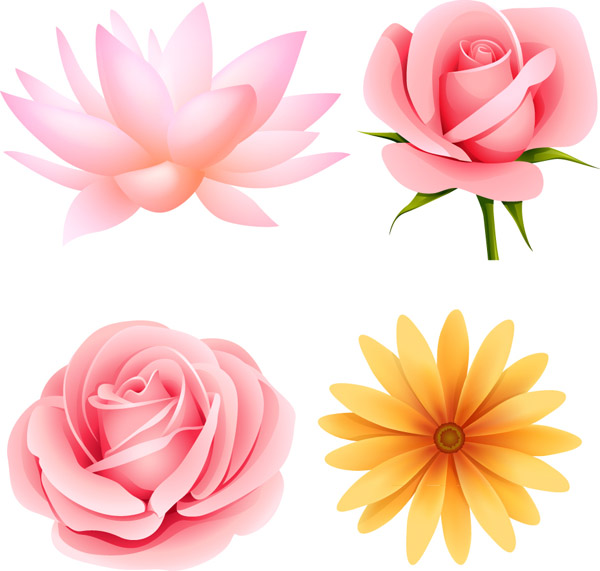 free vector Beautiful small flowers vector 4