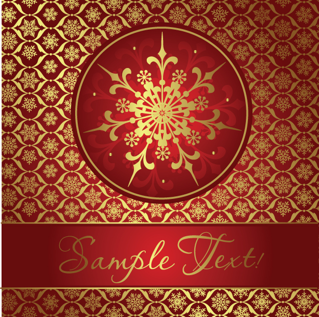 free vector Beautiful snowflake background 01 vector