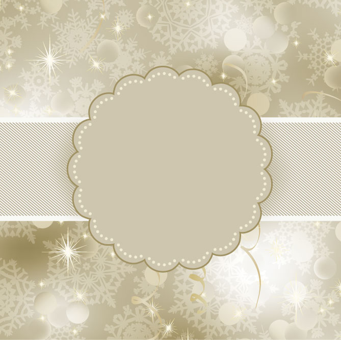 free vector Beautiful snowflake background 02 vector