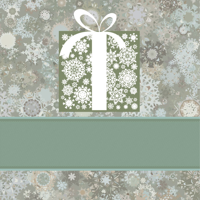 free vector Beautiful snowflake background 03 vector