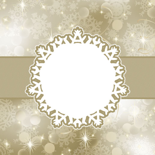 free vector Beautiful snowflake background 04 vector