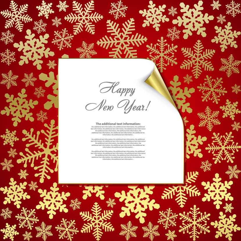 free vector Beautiful snowflake background 05 vector 14976