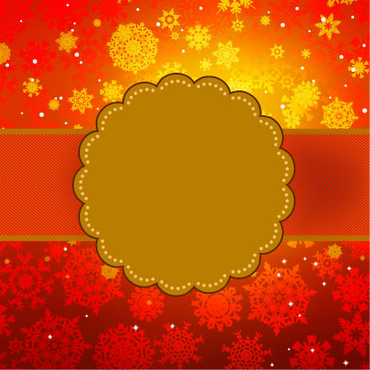 free vector Beautiful snowflake background 05 vector